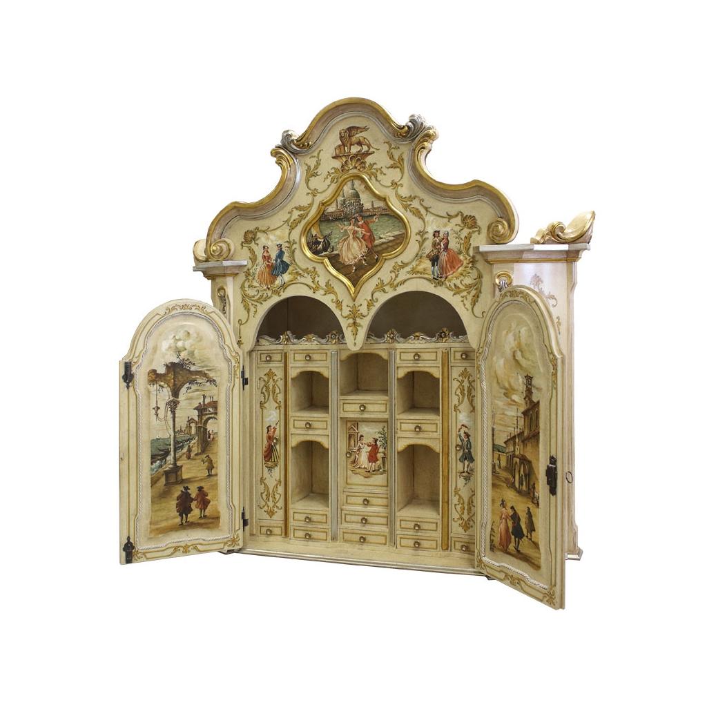 meuble trumeau, meuble peint à main, meuble trumeau classique vénitien, style classique vénitien