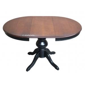 Runder Tisch Schwarz und Kirschholz
