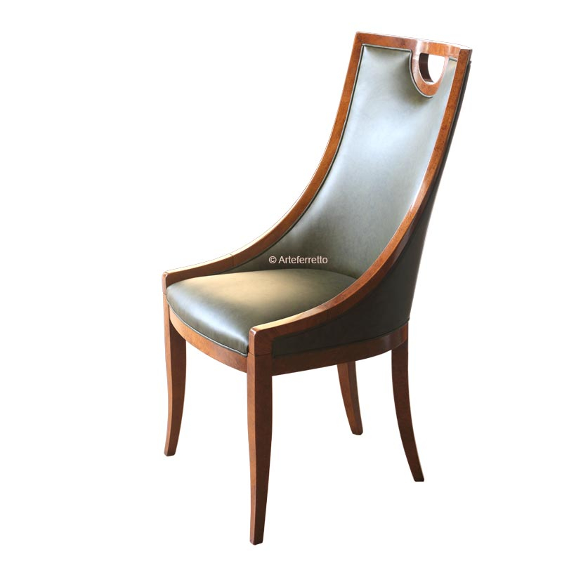 Chaise type crapaud vrai cuir, chaise crapaud, chaise vrai cuir, chaise en bois, chaise design