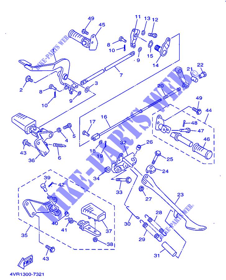 Appoggia Piede Posteriore SX Yamaha XVS Drag Star