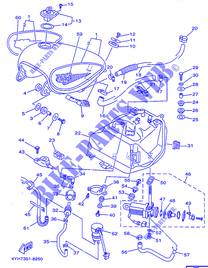 Rubinetto Carburante Yamaha XV Virago 535