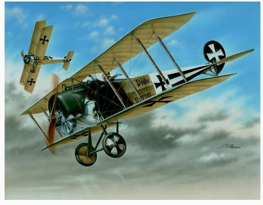 FOKKER D.II 'BLACK AND WH