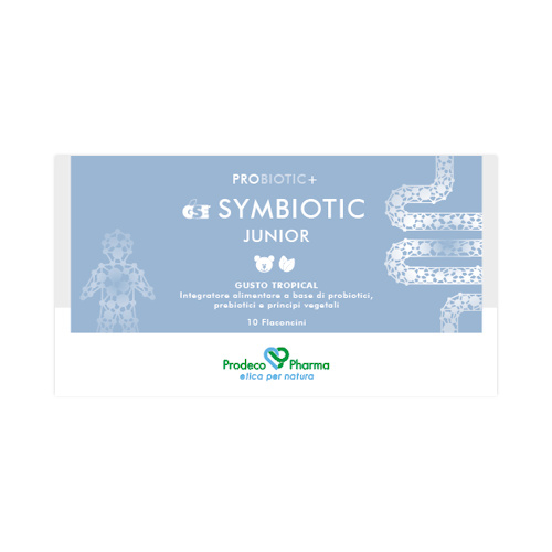 GSE Symbiotic Junior  Gusto Tropical - 10 Flaconcini monodose con tappo dosatore
