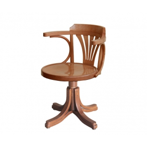 Drehstuhl mit Holzsitz, Drehstuhl Büro, Drehstuhl