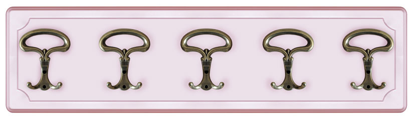 Wandgarderobe Rosa Farbe, Wandgarderobe Made in Italy