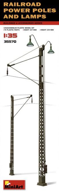 RAILROAD POWER POLES & LAMPS
