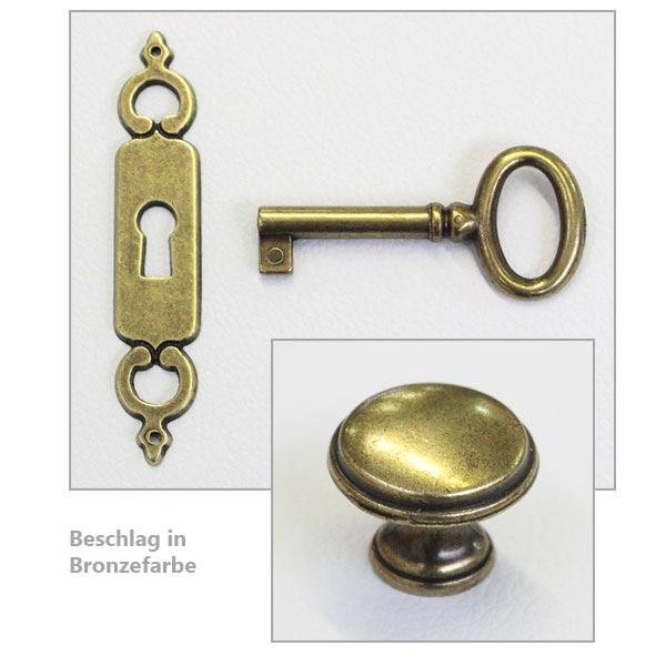 Beschlag in Bronzefarbe