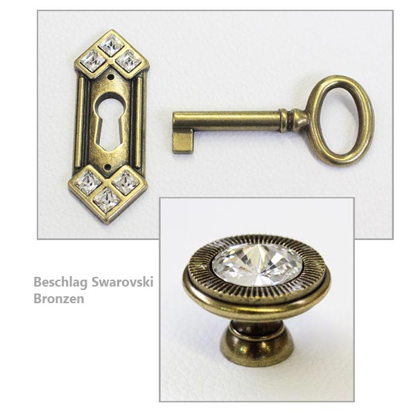 Beschlag Swarovski Bronzen