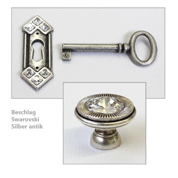 Beschlag Swarovski Silber antik
