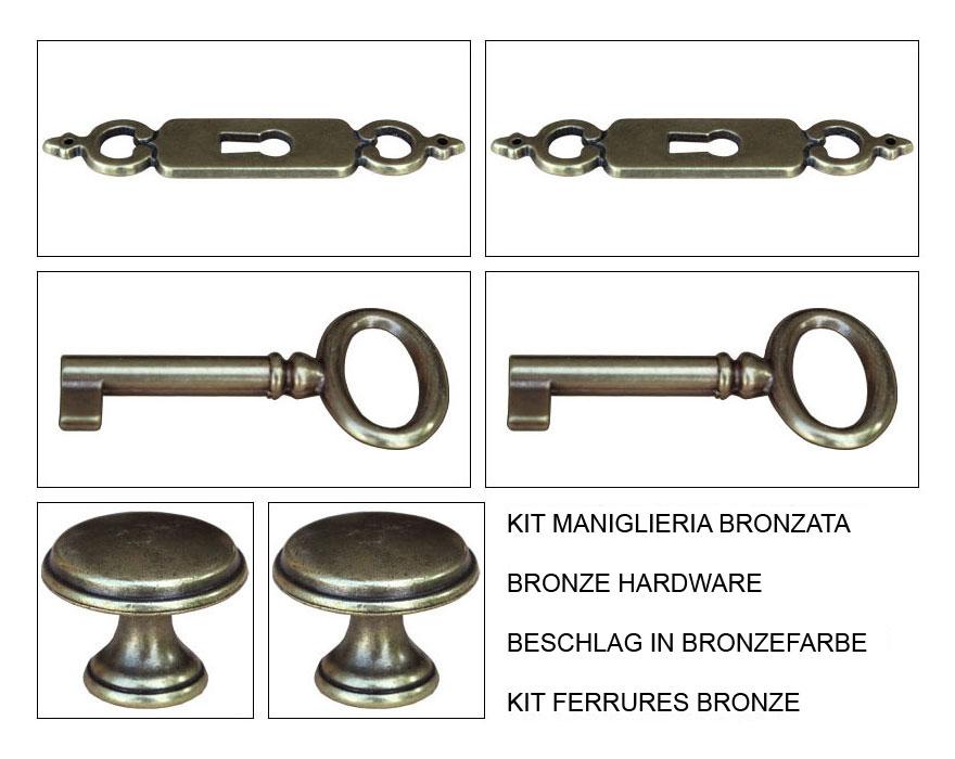 kit beschlag in bronzefarbe