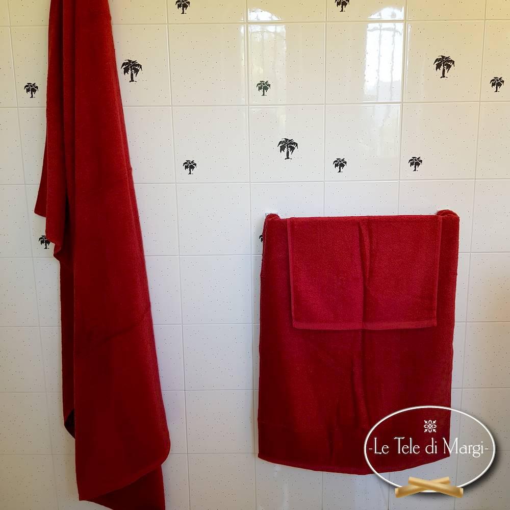 Asciugamani tinta Unita Bordeaux