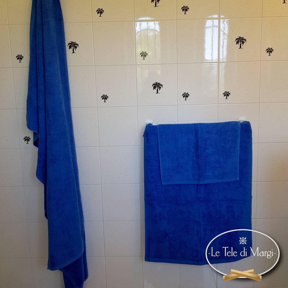 Asciugamani tinta Unita Blu Elettrico