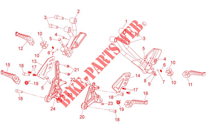 Pedana SX Pilota Aprilia Shiver 750