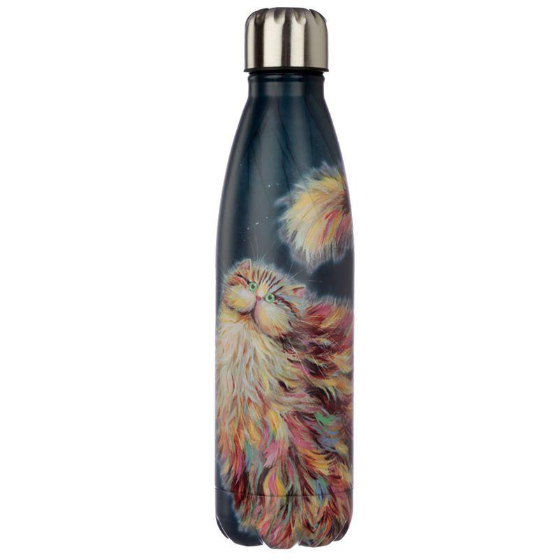 Bottiglia Termica Acciaio 500 ml - Gatti Pazzi - Kim Haskins - Arcobaleno (Bot96)