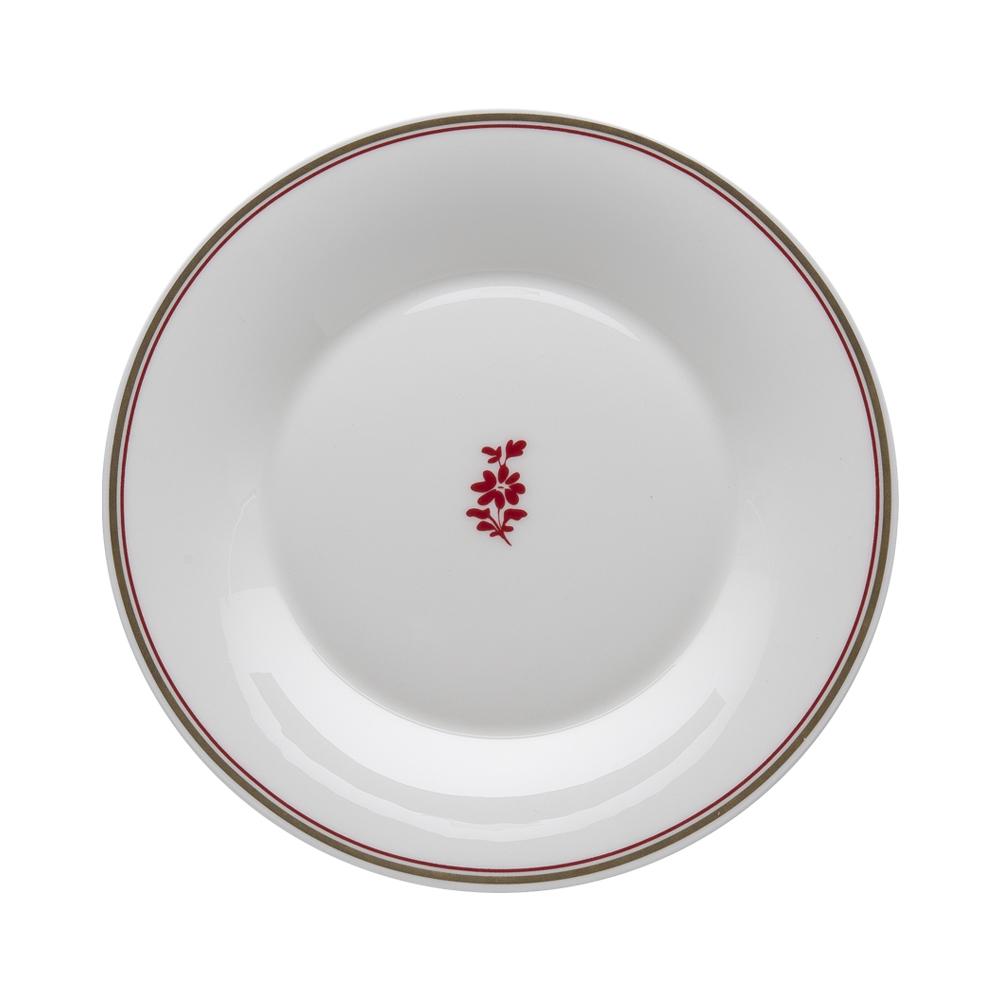 Piatto dessert cm 22   Feston e Cadena Rosso