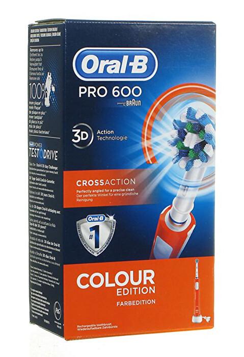 ORAL-B BRAUN PRO 600 CROSSACTION 3D ARANCIONE