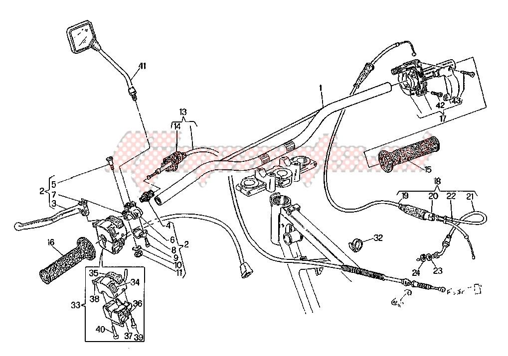 Levetta Luci di Posizione Cagiva Supercity/W8/W12