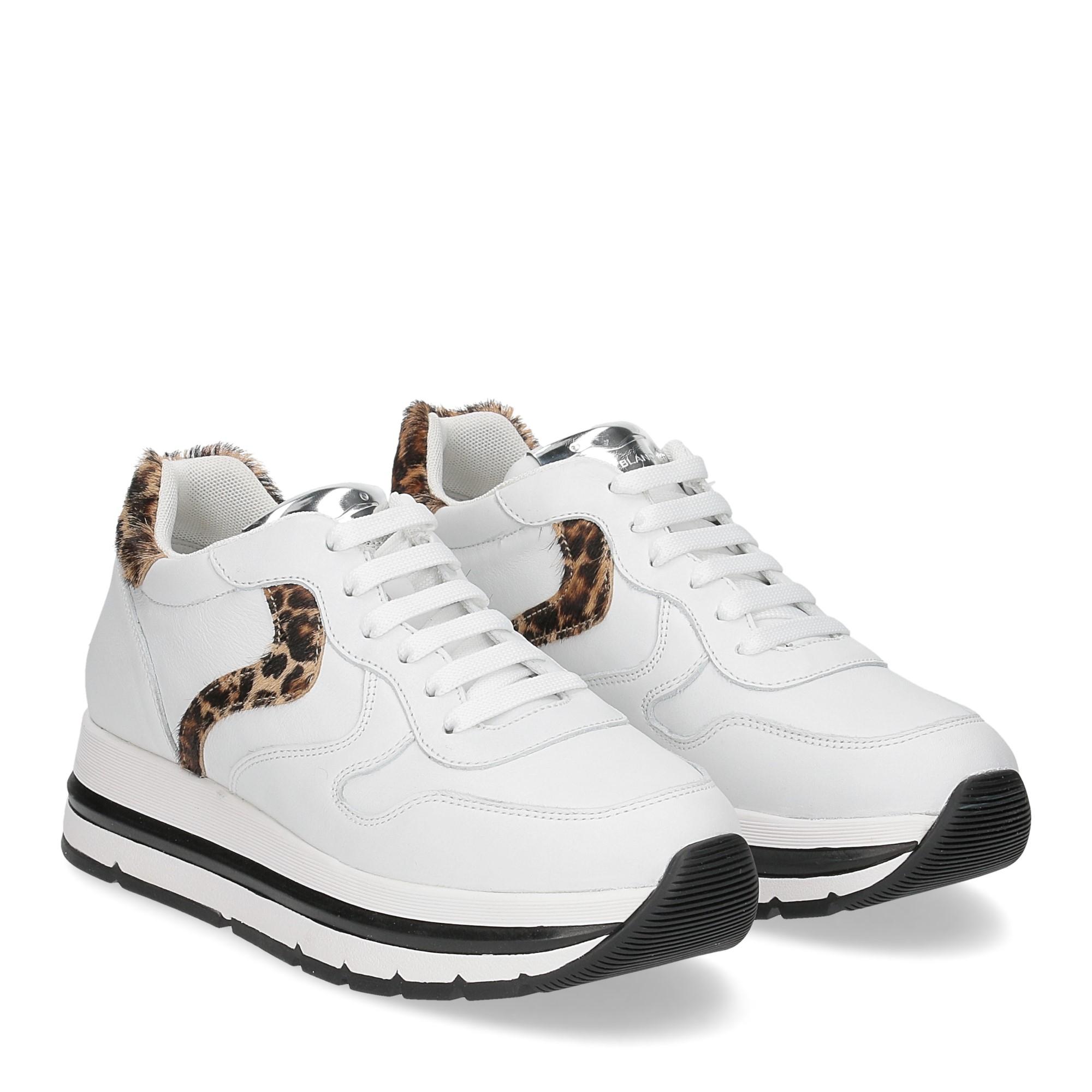 Voile Blanche Maran bianco leopard
