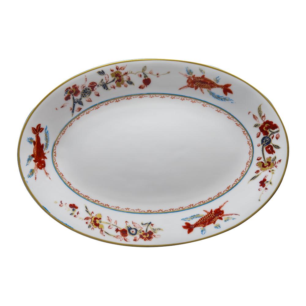 Piatto ovale cm 37   Chinesi Fiori Finiti