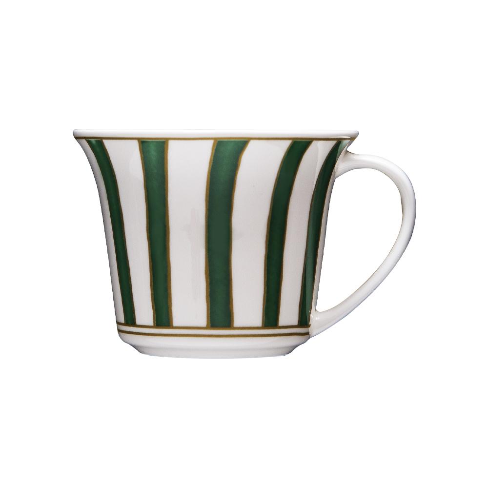 Tazza caffè cc 110   Striche Verdi e Oro