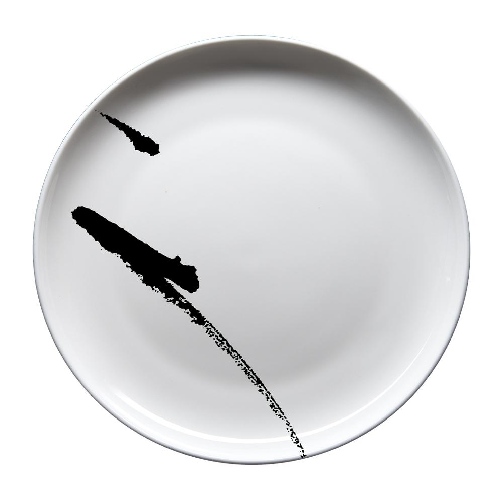 Rotondo piano cm 30,5 | Brush Nero