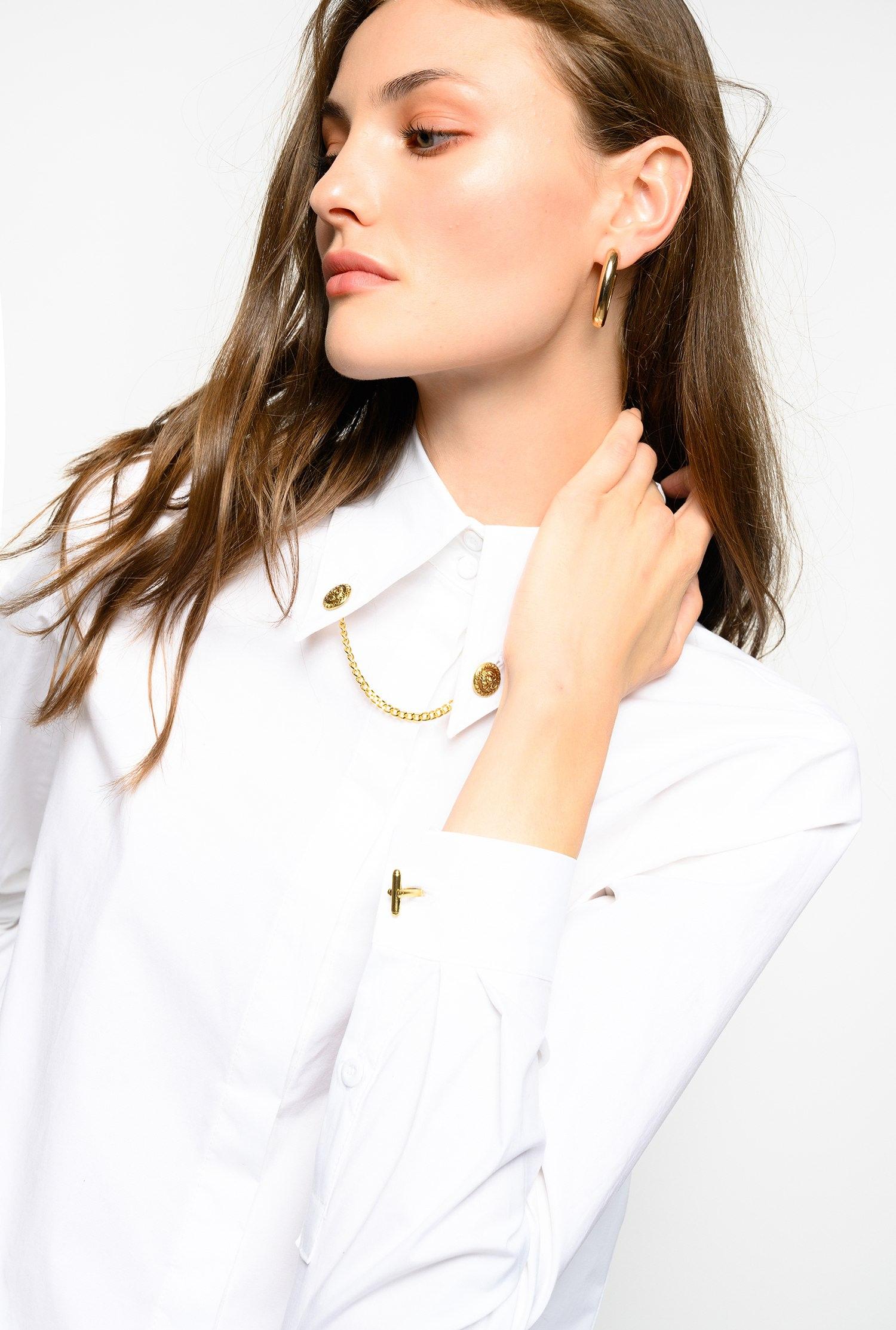 Camicia con gemelli sul colletto Pinko
