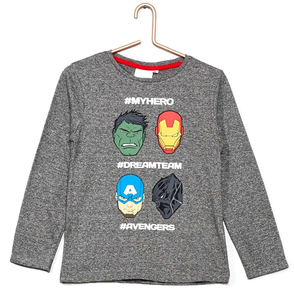 T-shirt grigia AVENGERS a manica lunga bambino 6 anni