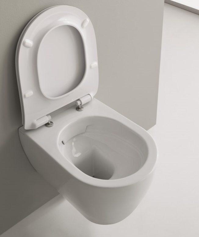 SCARABEO MOON  CLEAN FLUSH HUNG WC WHITE Sospeso