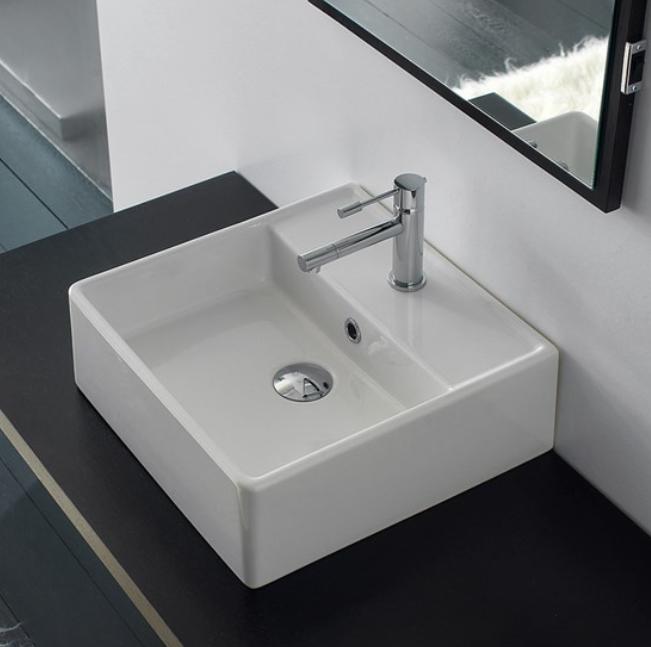 SCARABEO GLAM 56/R lavabo da appoggio 56*38