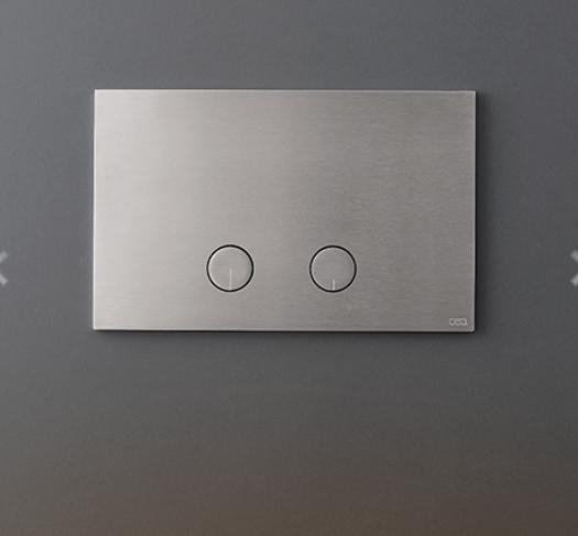 PLA02S Placca per cassetta a doppio flusso Geberit con pulsanti a filo Acciaio inox CEA DESIGN