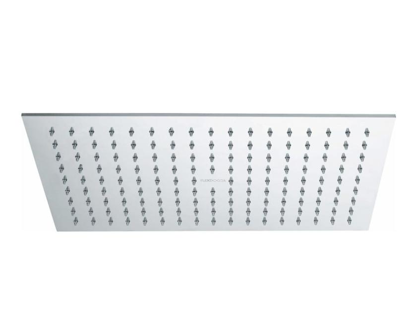 Soffione rettangolare in acciaio inox lucido 35*25