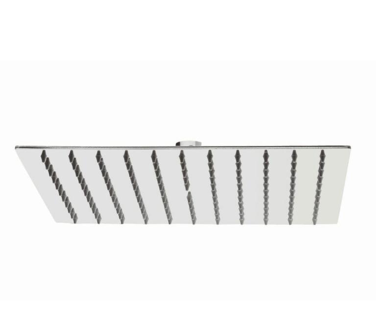 Soffione quadrato SQUARE in acciaio inox lucido 20*20