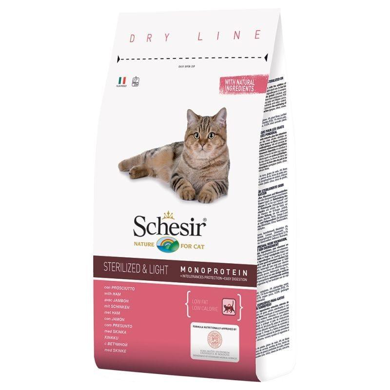 SCHESIR CAT STERILIZED & LIGHT PROSCIUTTO 1,5 KG