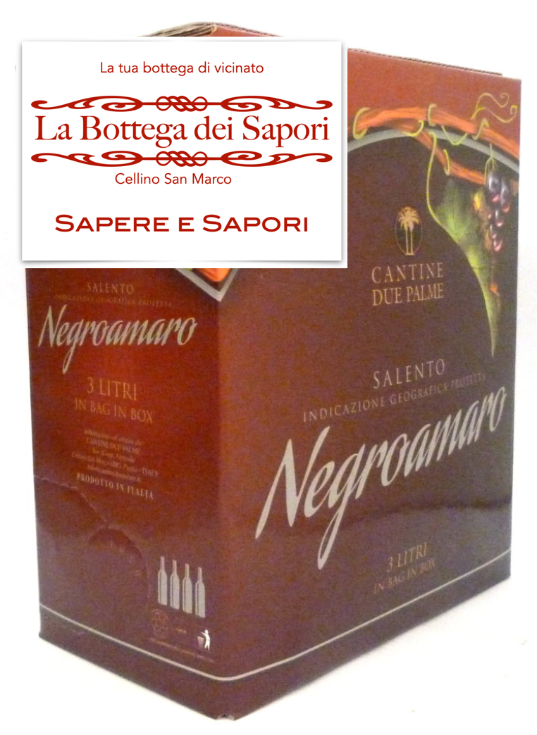Negroamaro Bag in Box 3Lt - IGP Salento - Cantina Due Palme