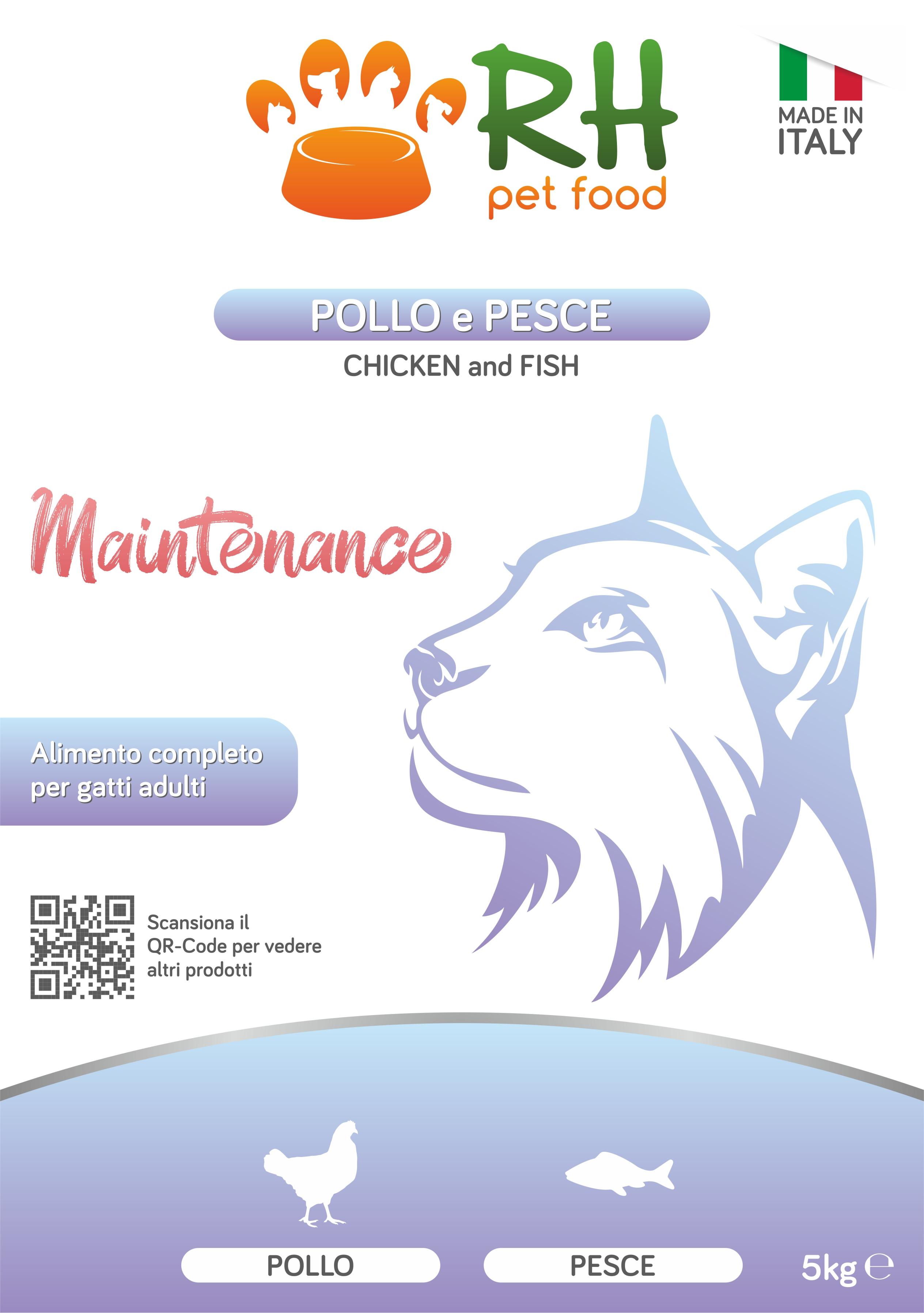 Pollo e pesce mantenimento