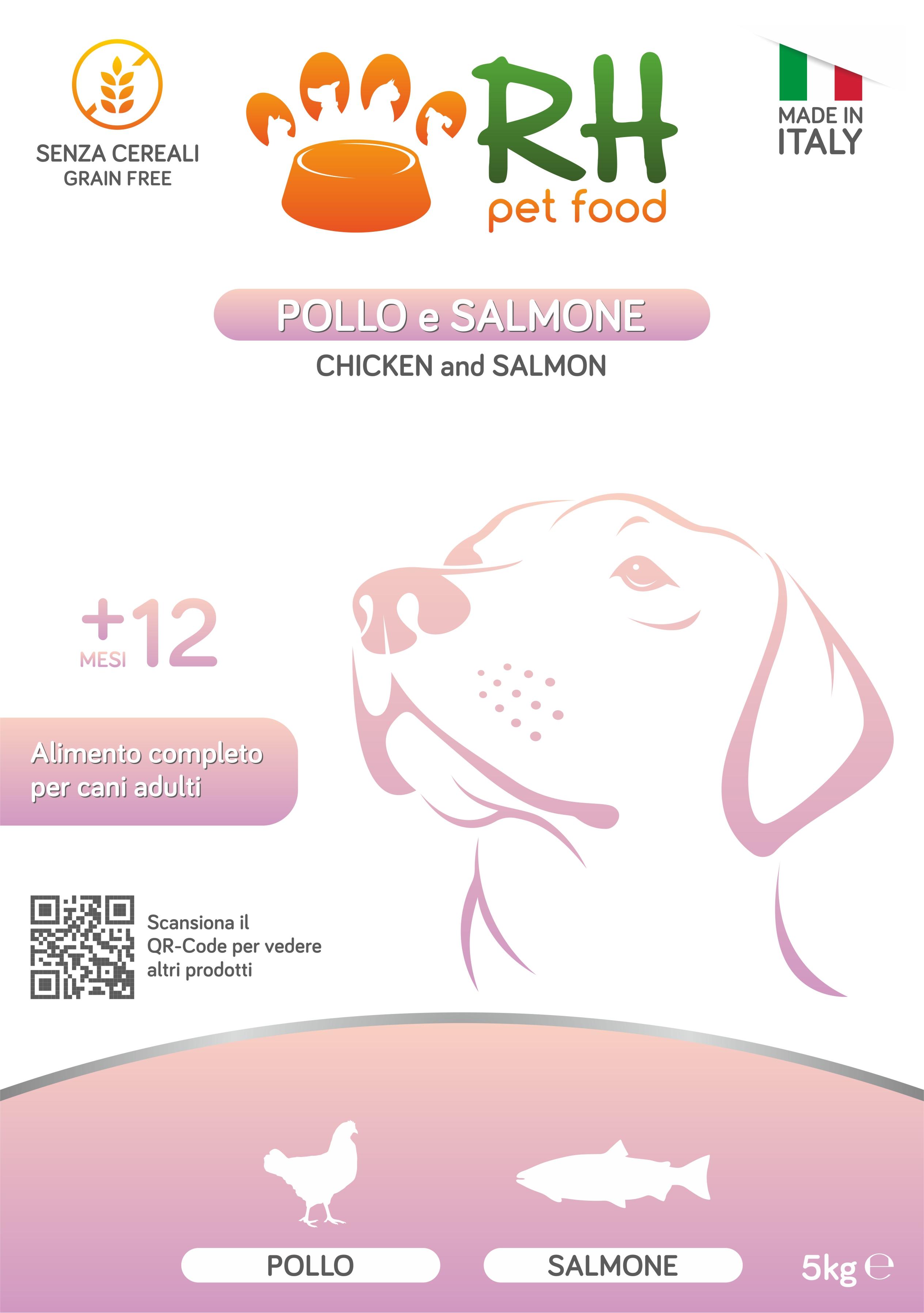 Pollo e Salmone grain free