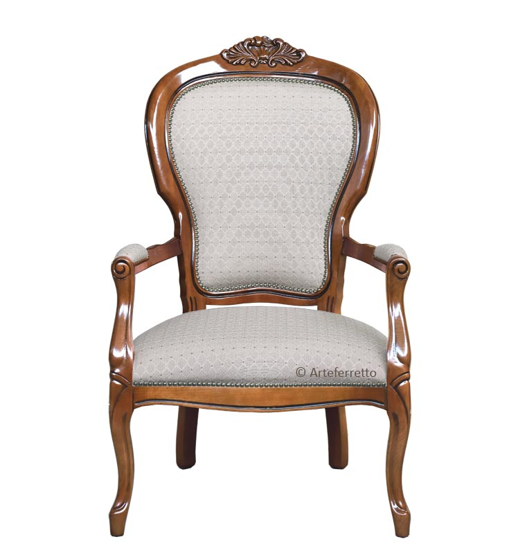 Carved armchair in Louis Philippe style
