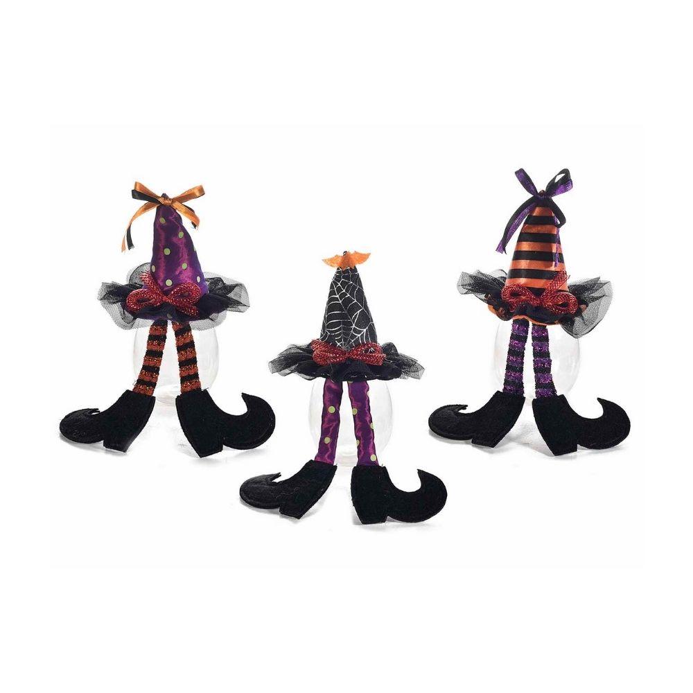 Set 9 barattoli portadolci Halloween con cappello strega