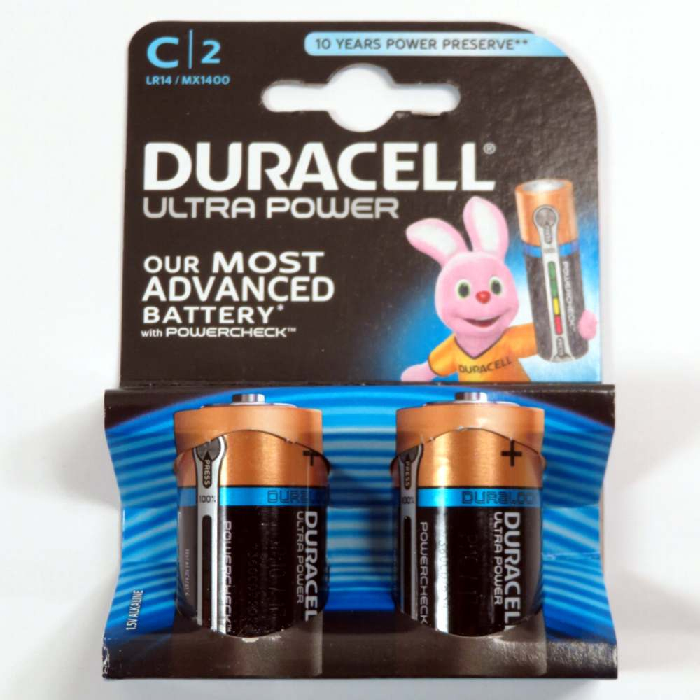 Pila 1/2 torcia tipo C Duracell ultra