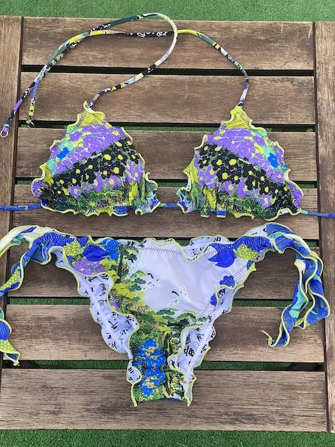 Bikini Triangolo e slip nodi brasiliano regolabile Frou Frou Tokyo Effek