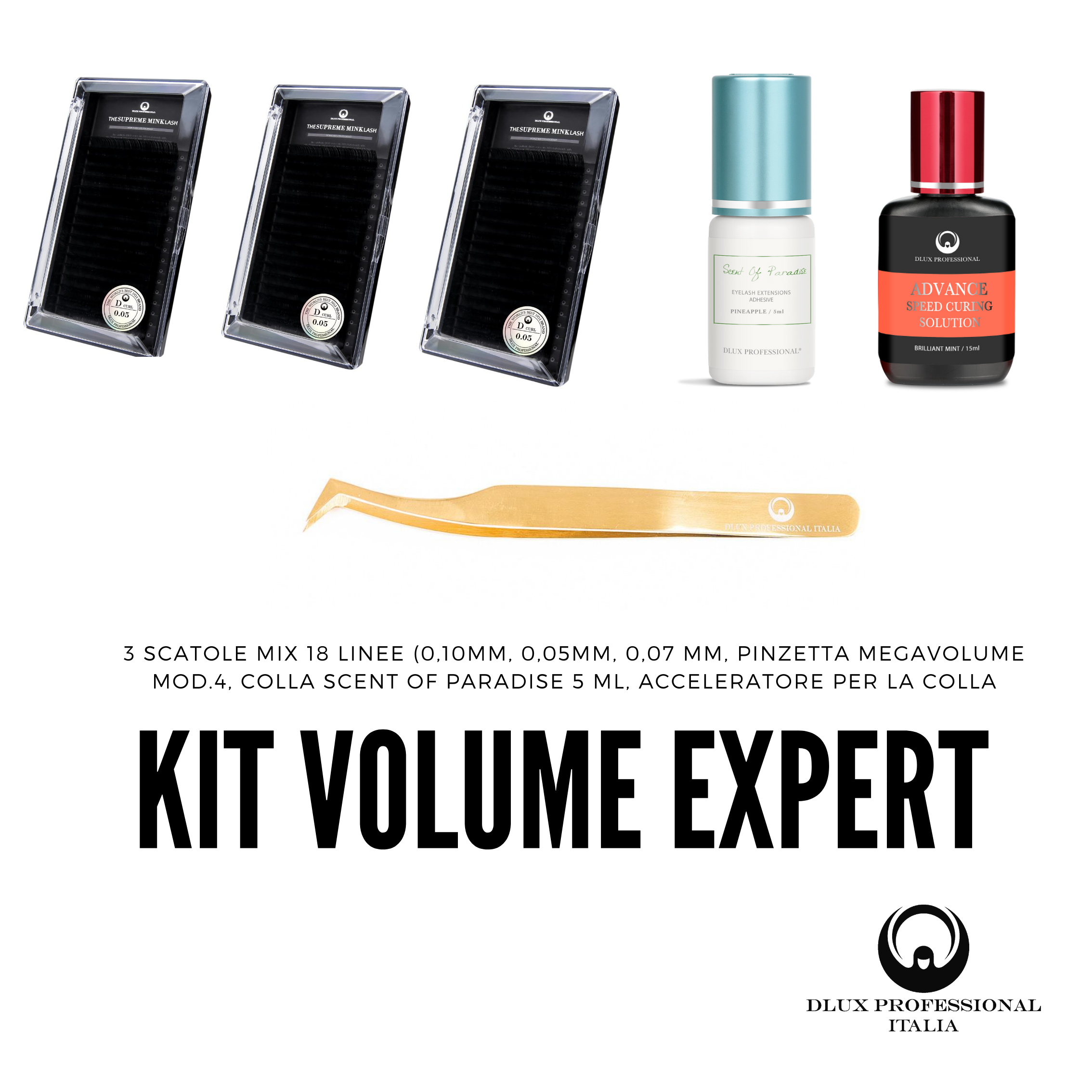 Kit Extension ciglia Volume Expert DLux Professional