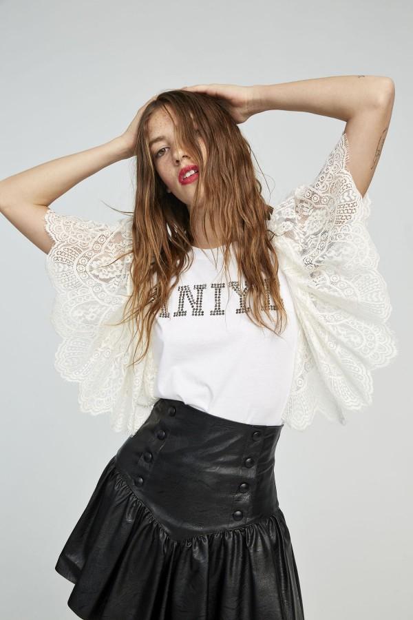 T-shirt lace logo Aniye By