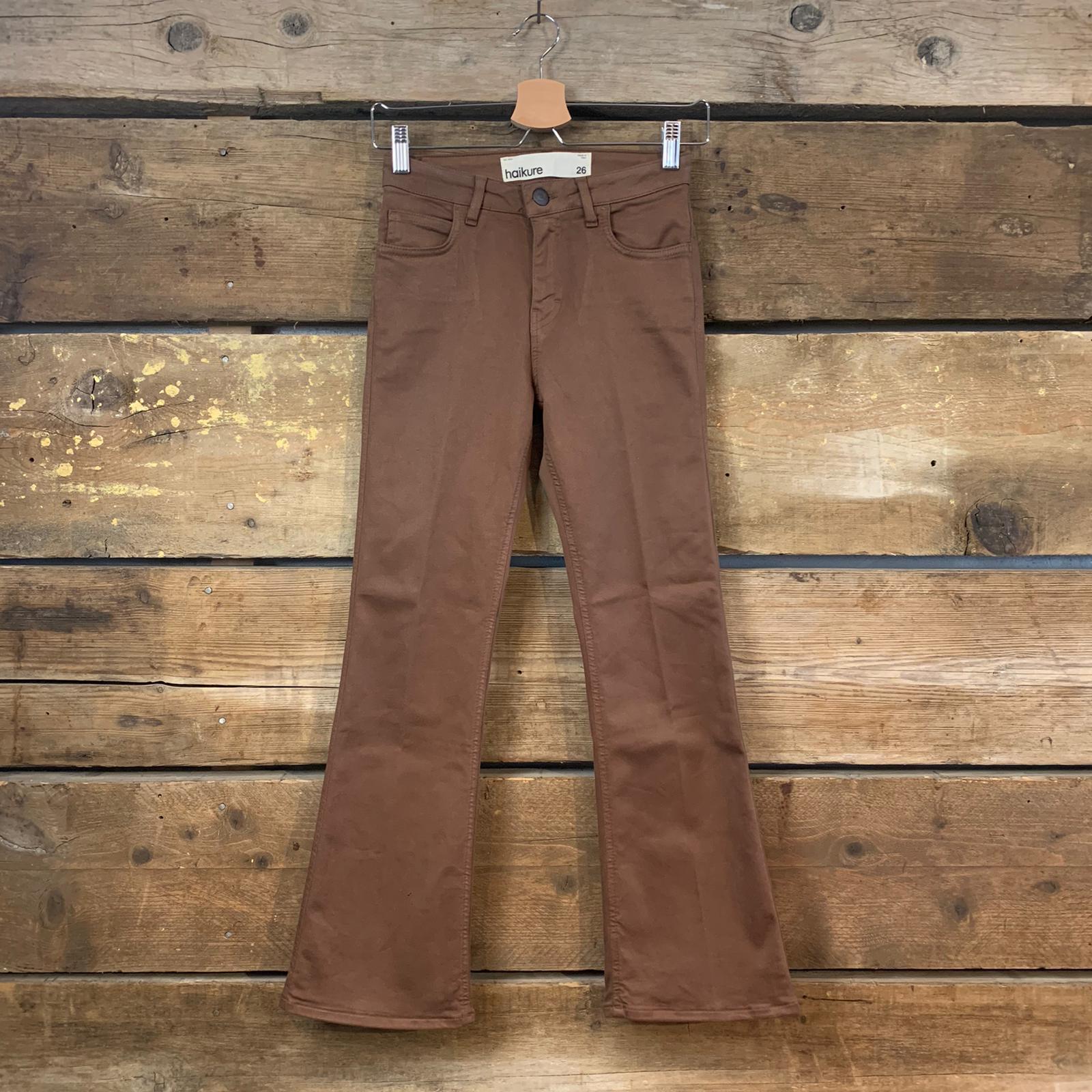 Pantalone Donna Haikure Formentera Crop Ecru Scuro (A Trombetta)