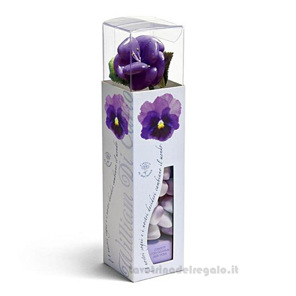 Confetti Le Clarisse gelatine gusto alla viola 125gr/1Kg William Di Carlo Sulmona - Italy