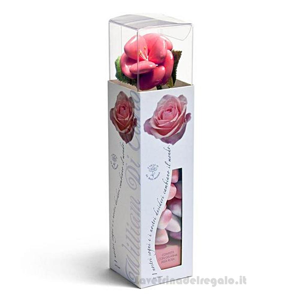 Confetti Le Clarisse gelatine gusto alla rosa 125gr/1Kg William Di Carlo Sulmona - Italy
