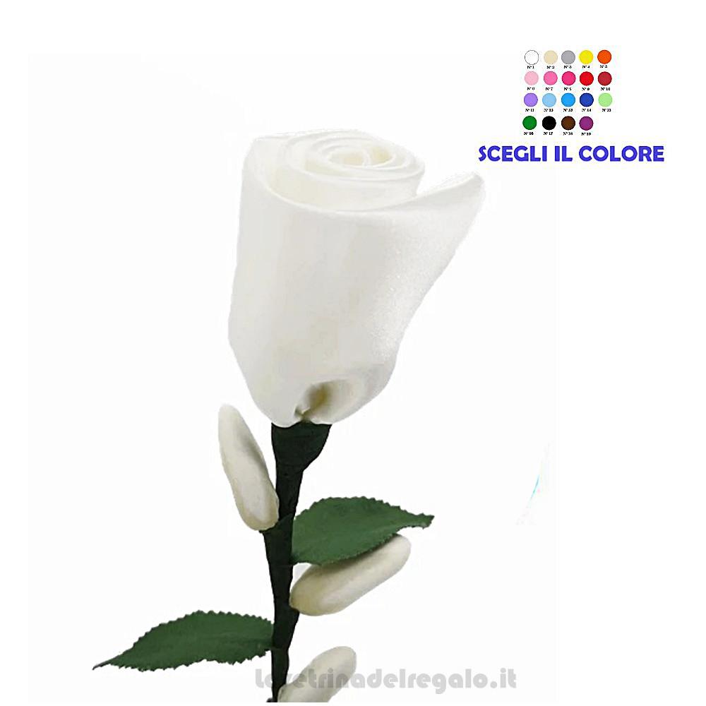 Rosa bianca in raso Fiore di Confetti William Di Carlo Sulmona - Italy