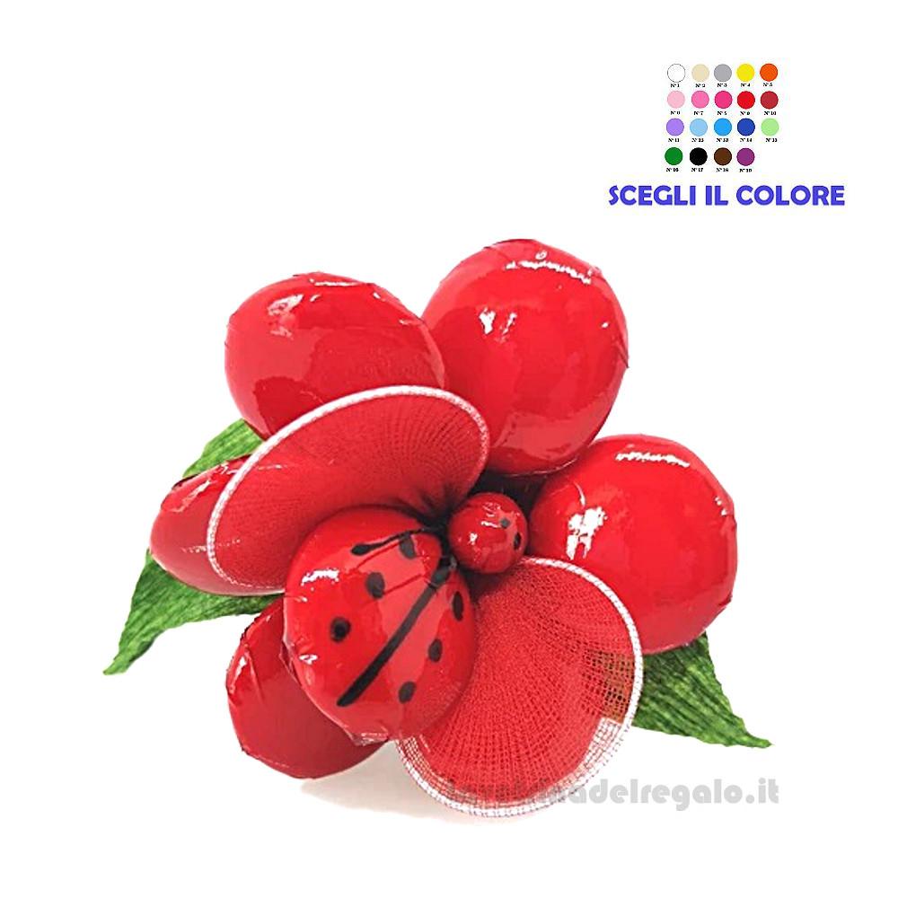 Anemone rosso con coccinella Fiore di Confetti William Di Carlo Sulmona - Italy