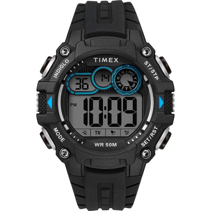 Timex DGTL Big Digit, nero e azzurro