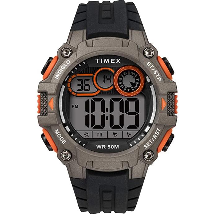 Timex DGTL Big Digit, nero e arancione