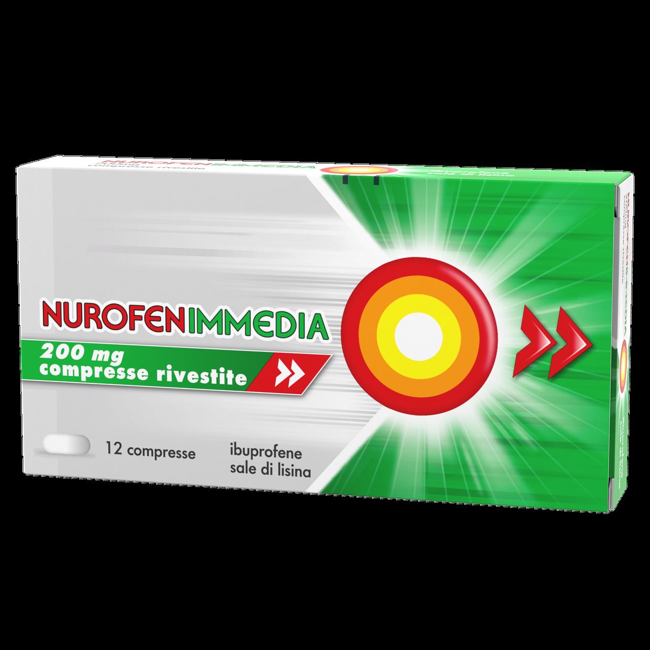 Nurofen Immedia 200mg Ibuprofene 12 compresse rivestite